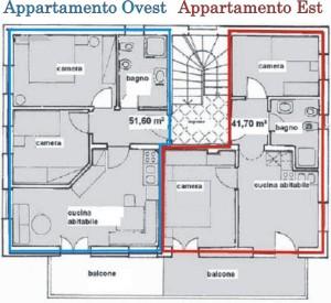 Pianta appartementi ovest e est